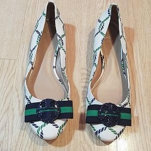 Tory Burch minnie Embellished Printed Leather